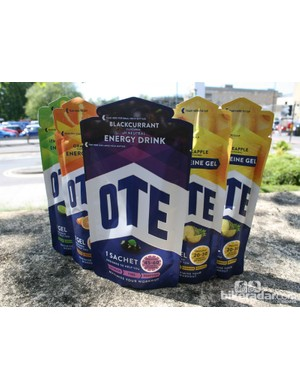 OTE Sports nutrition drink and gels