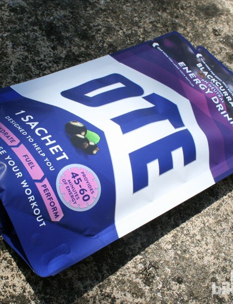 OTE's drink powder is available in blackcurrant flavour with orange and vanilla coming soon
