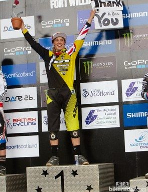 Rachael Atherton destroyed the field, winning more than 10 seconds. You could tell she appreciated the crowd's support today!