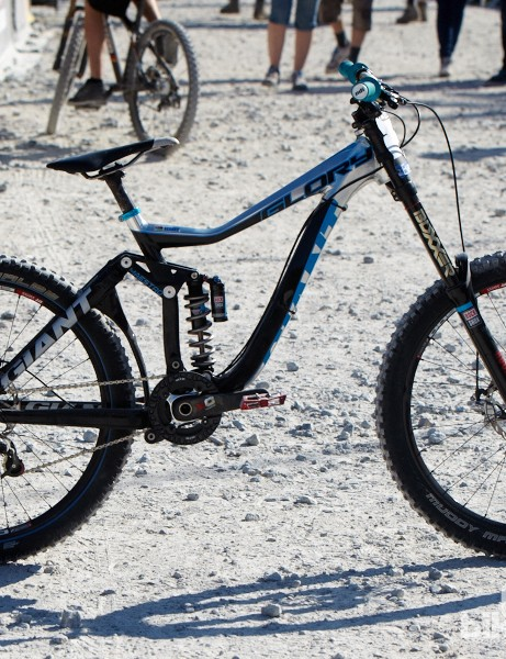Danny Hart's Giant Glory with new RockShox BlackBox Boxxer fork.