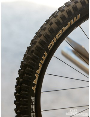 Schwalbe's brand new tyre, the Magic Mary. Apparently this is a favourite of Canadian Steve Smith and can be used in just about any condition.