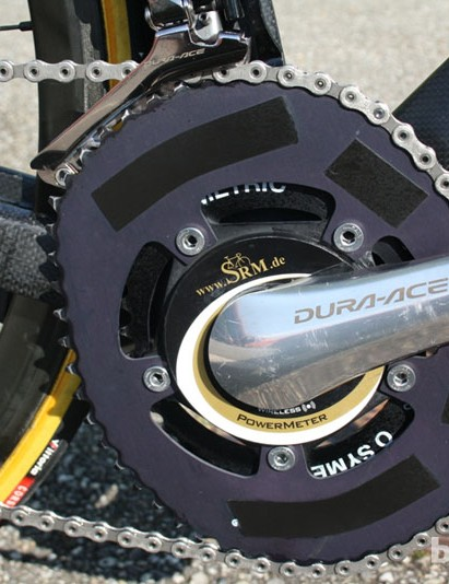 On the mountain stage to Valmorel, Sanchez's chain-rings were 52-38, with an 11-28 cassette on the back