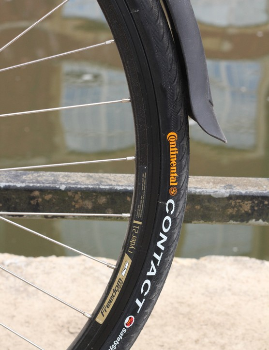 Continental Contact tyres help keep things comfy