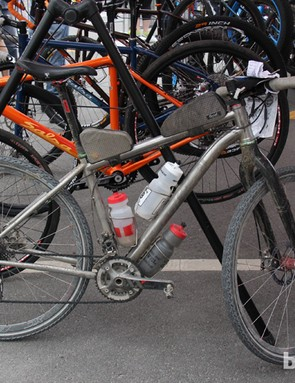 Salsa Cycles racer Jay Petervary finished the DK200 in second place aboard his titanium Fargo