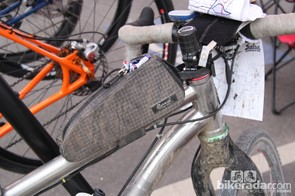 Many riders run frame bags so they have easy access to food and other necessities