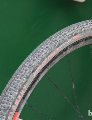 Clement's 700x40 X'POR MSO tire was developed for gravel riding and is a popular with DK200 racers