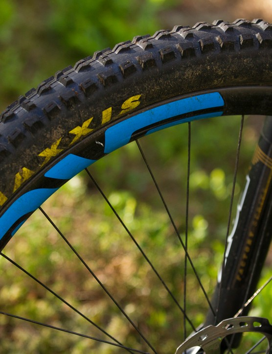 Our test bike used the faster rolling Ardent's from Maxxis, rather than the High Rollers pictured here