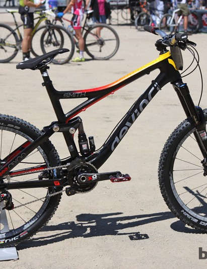 Steve Smith (Devinci Global Racing) competed at the Sea Otter Classic downhill aboard this Devinci Dixon Carbon