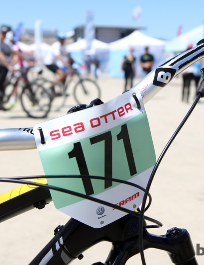 The Sea Otter Classic downhill course wasn't particularly demanding so many riders opted for enduro-type machines instead of full-blown DH bikes