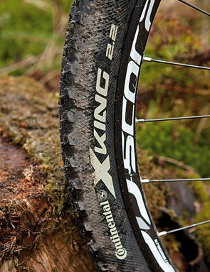 The tyres are better for speed than grip on the Stevens Sonora 29er – a rubber upgrade is essential