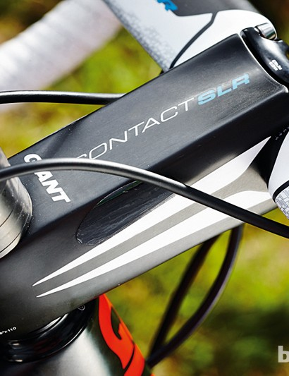 The Giant SLR stem is light and as solid as a rock when you're riding