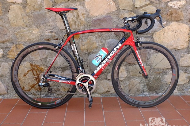 Our test Oltre XR2 with Shimano Dura-Ace Di2
