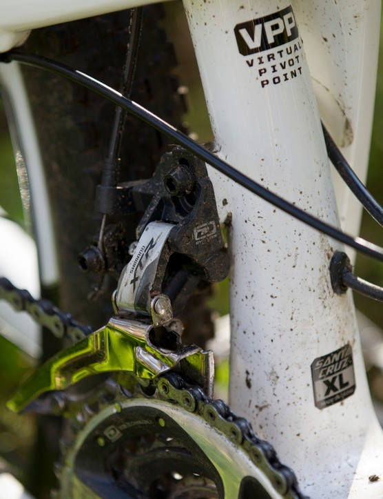 Our XTR triple setup provided a range necessary to extract the most from the bike