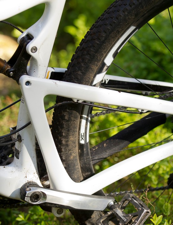 The carbon frame is both impressively light and stiff