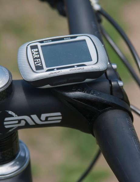 Designed to keep the cycle computer relatively out of harm's way, the Tate Labs Bar Fly MTB mount still places it on the handlebar