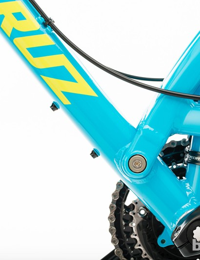 The rear suspsensions one and only pivot now uses angular contact bearings and a collet axle, both of which should bolster rear end stiffness