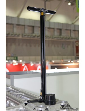 The Lezyne CNC Digital Drive will be Lezyne's top-end floor pump for 2014 with a digital gauge, an aluminum barrel and handle, and a retail price of US$129.99. Expected availability in stores is mid-August