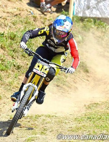 Rachel Atherton (GT Factory Racing) took her second straight World Cup win in the elite women's DH event