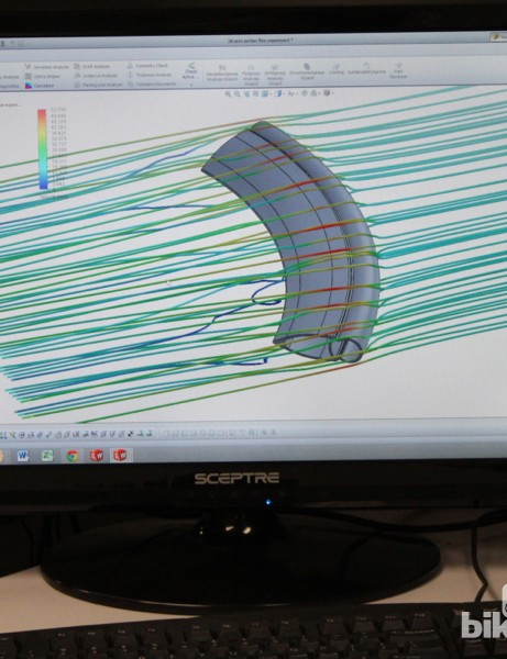 Today, Reynolds designs all its wheels with CFD (computation fluid dynamics), then validates them in the wind tunnel