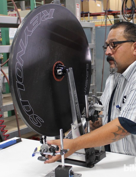 Reynolds discs are trued at the factory before shipping - but they can't be trued after