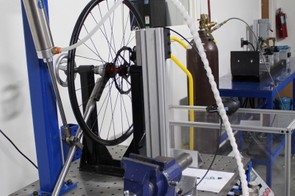 This machine tests torque load on the hub
