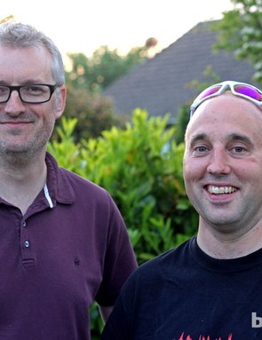 Cycling Plus editor Rob Spedding with  James Hodgson, whose Lakes ride features in episode two of Britain's Best Rides