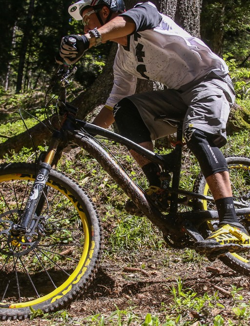 The Mavic Crossmax Enduro WTS and Crossmax shoes in action