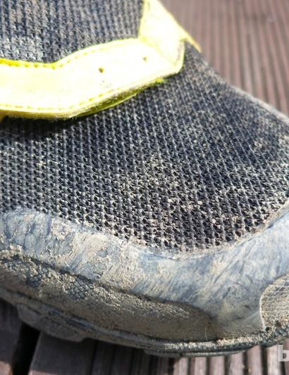 Toe protection on the new Mavic Crossmax shoes