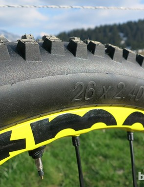 Mavic Crossmax WTS front wheel and tyre