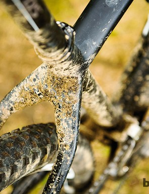There's plenty of mud room around the Schwalbe Rocket Ron tyre