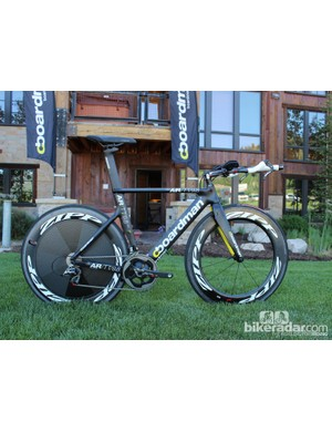 Boardman is bringing three bikes to the US this year: two road bikes and this AiR TT, which comes in five models
