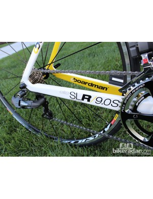As with the other Elite series bikes, the SLR uses chainstays built as a monocoque with the bottom bracket