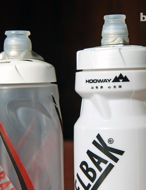 The finger grips on the new Camelbak bottle are a little less pronounced than before