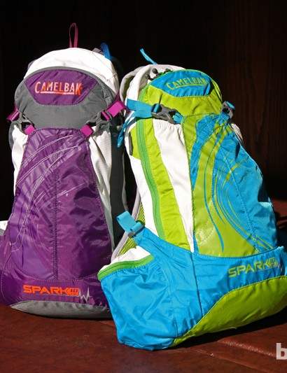 The women's Camelbak Spark 10 features a low-mounted 'LR'-style reservoir that wraps around your hips to keep loads more stable while riding