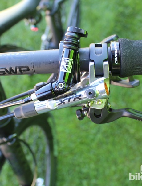 Shimano XTR and RockShox complement the Cannondale spec