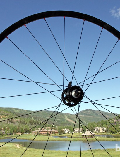 The Stan's NoTubes Iron Cross disc wheelset will comprise three models for 2014: the team-spec Pro, the mid-range Team, and the reasonably priced Comp