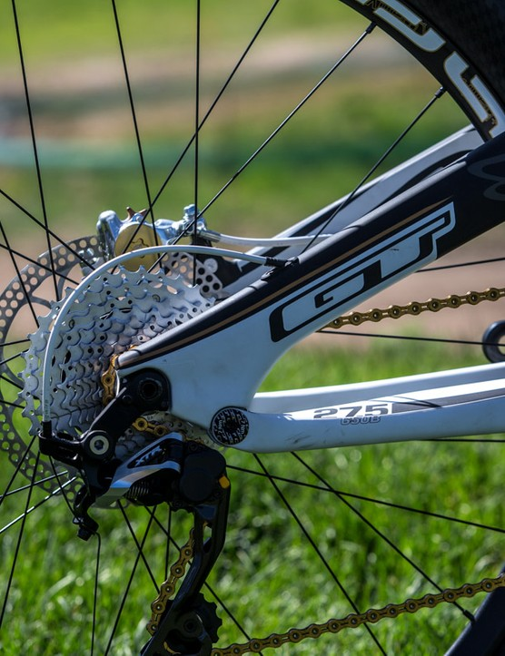 A direct-mount rear derailleur makes removing the rear wheel a doddle