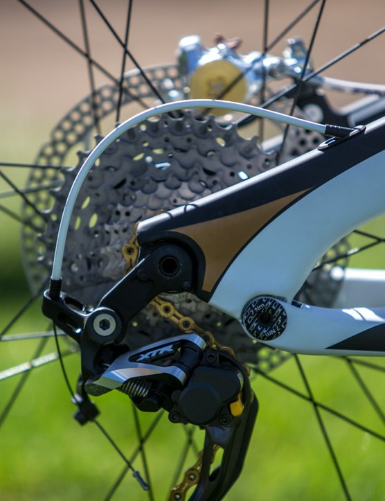 The direct-mount rear derailleur makes it onto the GT Sensor too