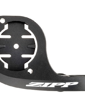 The Zipp QuickView TT mount uses a quarter-turn engagement for modern Garmin cycling computers