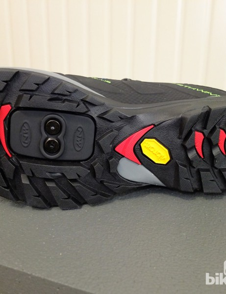 A good-quality grippy Vibram rubber sole for walking