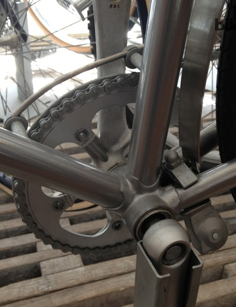 The shimmering silver coating on the Georg Jensen bike took ages to perfect, ensuring it could stand up to marking by tools