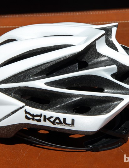 While the prototype wasn't so equipped, the production Kali Loka helmet will feature a full lower shell to guard against nicks and dings