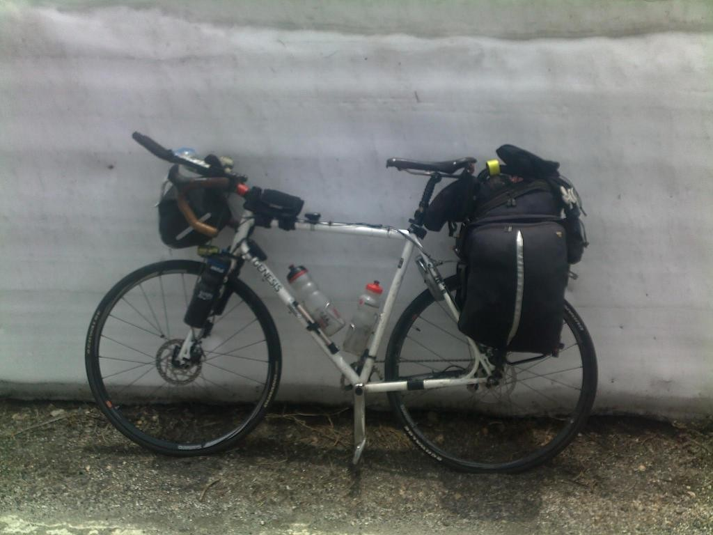Vin Cox's round the world bike
