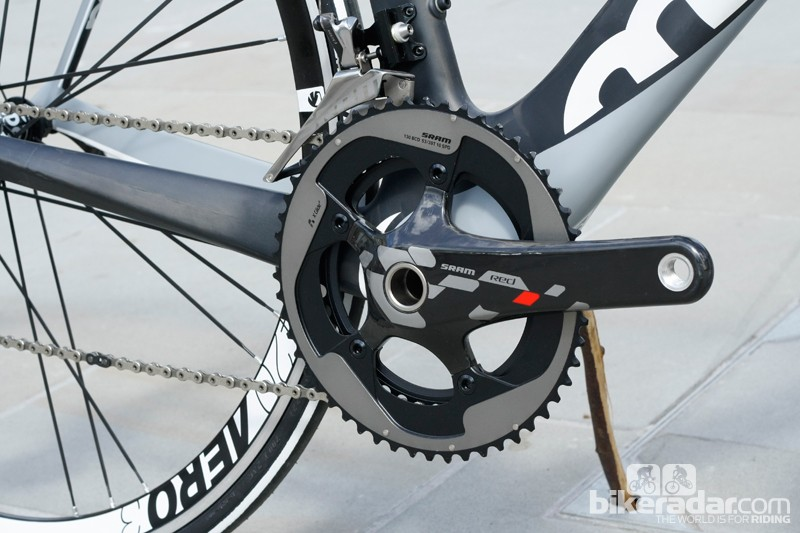 The 2013/14 Finale features a full SRAM Red groupset, but Moda are able to spec their bikes with a wide range of groups