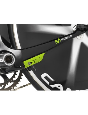 The rear brake is integrated into the chainstays - a development over the Bolide