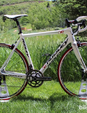 Ridley's first-ever Campagnolo-equipped bike to land in the US, the Fenix with mechanical Record