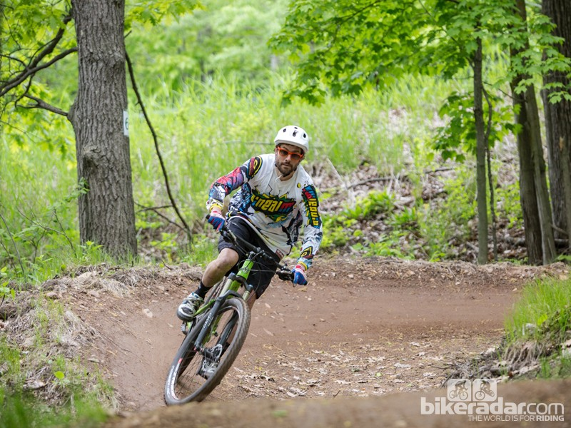 """""""For me, I'm just trying to have fun out there and get a little rowdy on the trail,"""" Dave Weagle told BikeRadar"""