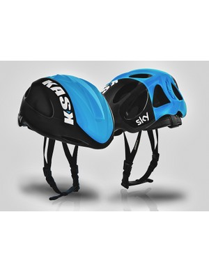The new Kask Infinity road helmet is said to offer the aerodynamic benefits of a fully covered lid but the ventilation of a more traditional helmet if needed