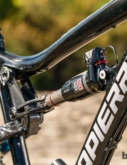 Lapierre test rider and 10-time World DH Champion Nico Vouilloz is a big fan of the RockShox Ei system and its efficiency benefits for racing