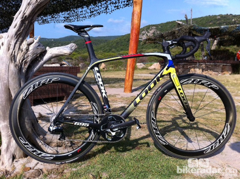 The Look 695 Aerolight road bike - launched today in Corsica